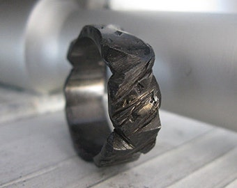 Mens Wedding Band Viking Wedding Ring Black Wedding Band Unique Mens Wedding Band Mens Wedding Ring Rustic Mens Wedding Band Carved Ring