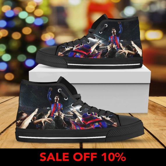 Shoes Converse Barcelona High Messi Custom Top Shoes Barcelona Converse Barca Custom Barca FC Sneaker Shoes Custom Barcelona Barca Hwx6ygSIq
