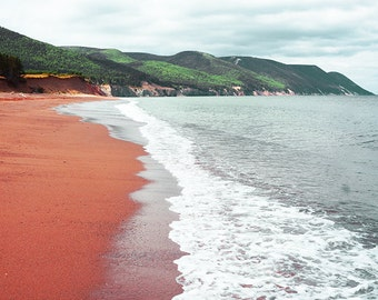 Red Clay Ocean Photography - Wall Decor - Water Landscape Fine Art Print Nature Romantic Beautiful Green Mountains