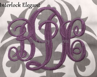 Interlocking Elegant Font
