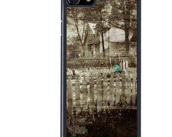 iPhone 5 5s 6 6s 6+ 6s+ SE 7 7+ iPod 5 6 Phone Case, Cemetery, Blue Bird, Graveyard, Plus