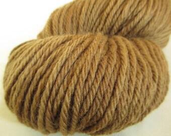 Bulky Yarn - Natural Dye - Black Walnut Hulls - Hand-Dyed 100% Wool - YAB101742 - 100 grams