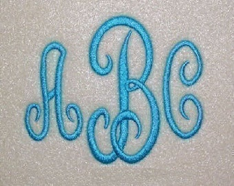 Classic Embroidery Machine Monogram Alphabet Font Set 161 - INSTANT DOWNLOAD