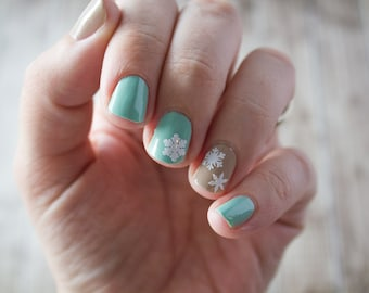 Assorted Snowflakes Nail Stickers / Decals
