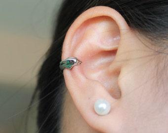 Dolphin Ear Cuff, Stainless Steel 316L grade - Hypoallergenic.