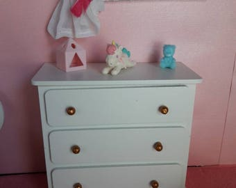 Chest of drawers 1/6 for Barbie dolls, Blythes, fashion royalty, pullip, hot toys or the same size