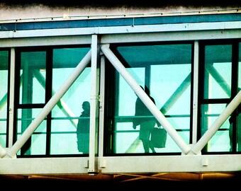 Aqua Structure Photograph--Skybridge--Fine Art