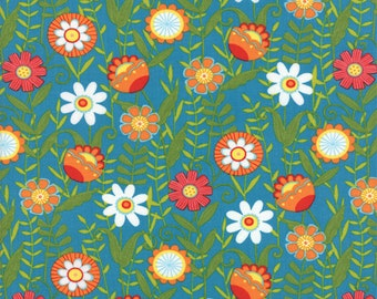 One Yard Bloomin' Fresh - Fresh Blooms in Sky Blue - Cotton Quilt Fabric - designed by Deb Strain for Moda Fabrics - 19661-15 (W2755)
