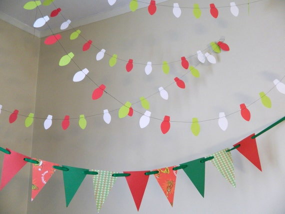 Items Similar To Whimsical Christmas Decor Decorations Classroom Classic Photo Prop Holiday Garland On Etsy