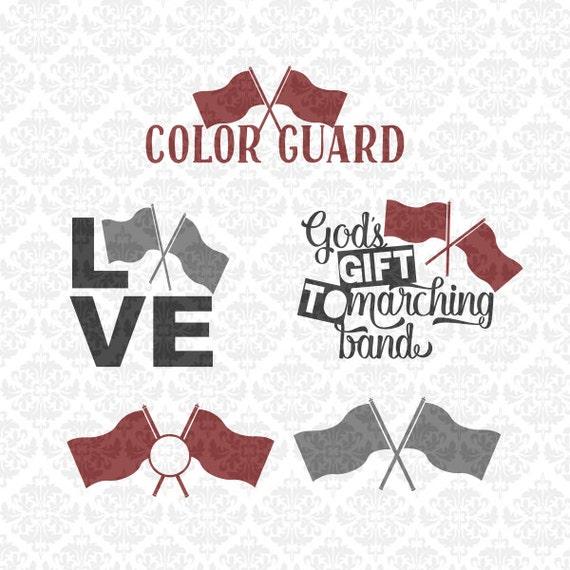 Color Guard Svg Colorguard Svg Marching Band Svg Band Svg