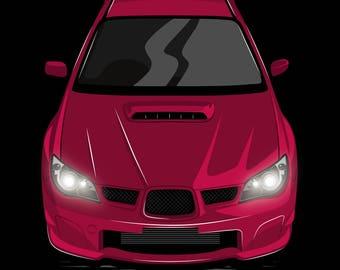 JDM Subaru Impreza WRX STI Poster / Vector Clipart