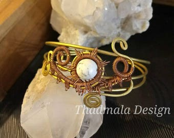 boho wires and beads braclet