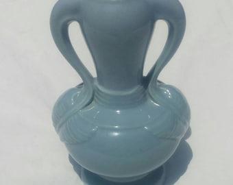 Vintage blue ceramic lamp base