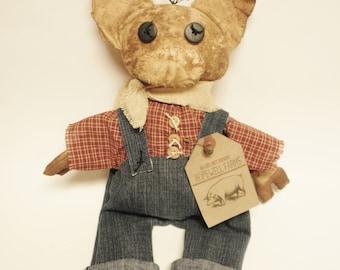 Primitive Pig Doll Fella, Country, Primitive Animals, Country Farmhouse Decor, Barnyard Animals