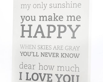 Large Wall Art Panels - You Are My Sunshine (2 Colors)