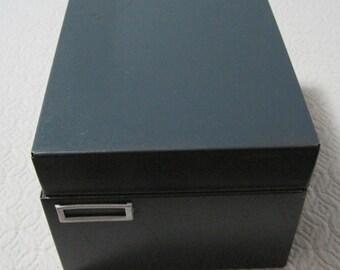 File Box, Grey, Steel, Vintage, Industrial