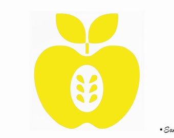 Apple seeds pop yellow flex fusible