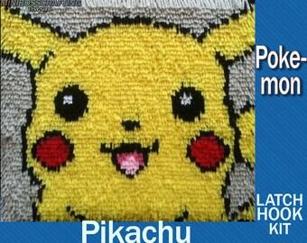 Pokemon: Pikachu - Latch Hook Kit - DIY Latch Hook Rug 14.5*13.5 Inches