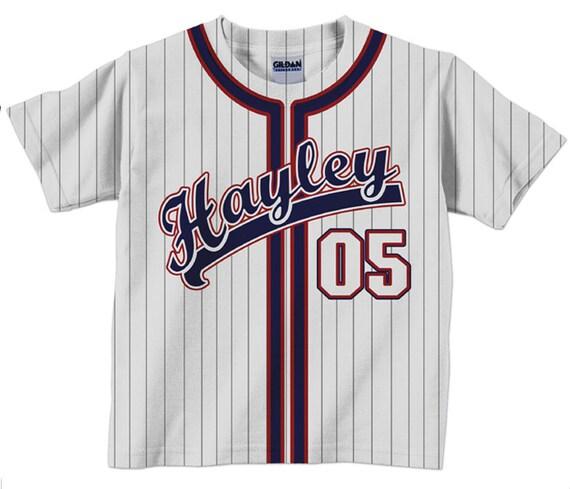 Personalized Baseball Jersey Shirt Personalized Team T-Shirt