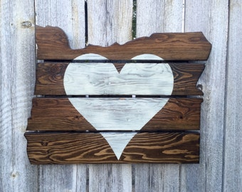 Recycled Pallet Oregon Heart