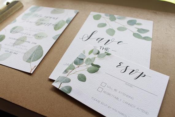 Wedding Invitation Rsvp Date: Wedding Invitation Package Save The Date RSVP Card