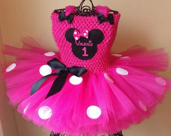 Minnie Mouse Tutu Dress with Personalization