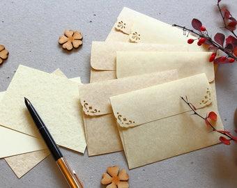 Gift card envelopes etsy 25 small envelopes c7 aged paper envelopes gift card envelopes rsvp envelopes reheart Choice Image