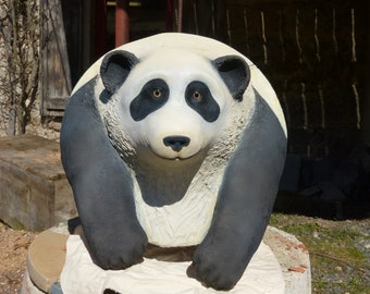 Panda in plaster for a child's room