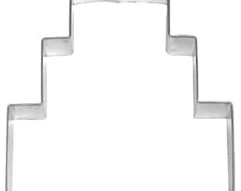"WEDDING CAKE cookie cutter - 3 tier  Anniversary cake cookie cutter-4.25""' book stack cookie cutter Birthday Cake cookie cutter made in USA"