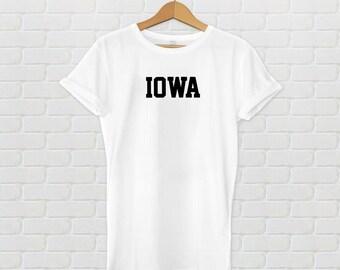 Iowa Varsity Style T-Shirt - White