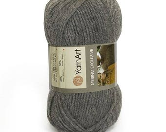 Wool and acrylic yarn MERINO EXCLUSIVE YARNART, winter yarn, many yarns, yarn palette