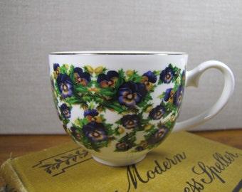 Chintzy Purple Flower Teacup
