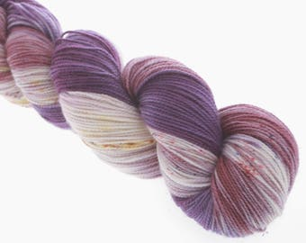 Hand Dyed Yarn, Sock Yarn, Superwash Merino, Nylon, , speckled variegated THE PASSION