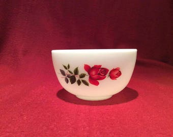 Pyrex JAJ June Rose Sugar Bowl circa 1960
