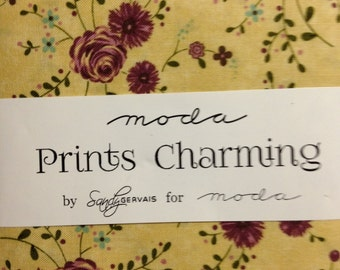 """Prints Charming Charm Pack 42 - 5"""" Squares by Sandy Gervais for Moda Fabrics, 100% Cotton"""