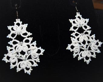 Wedding tatting earrings