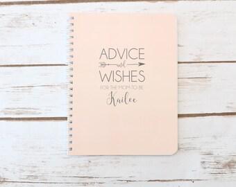 Baby Shower Gift, Spiral Notebook, Guest Book, Small Notebook, Personalized, Baby Gift, Baby Shower, Advice