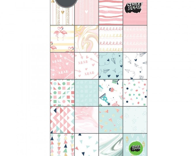 New! Sizzix Paper - 6x12 Cardstock Pad, Mini Celebrations, 48 Sheets - 661865