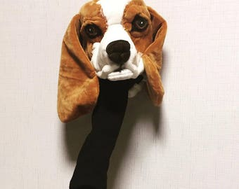GOLF club head cover , Beagle  , Custom Dog portrait , GOLF GIFT