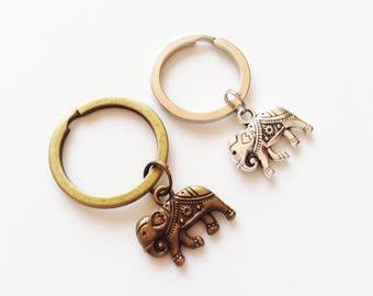 ELEPHANT Keychain Elephant Lanyards Elephant Keyring Elephant Gift Animal Keychain Animal Keyring Animal Gift Safari Keychain Safari Gift