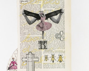 Mixed Media Art Print - Bibliomania