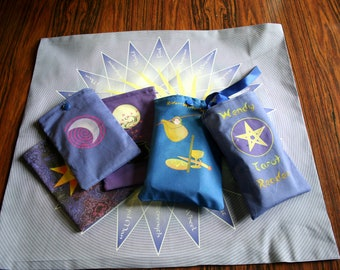 Tarot Deck Bags - CUSTOM Designed for you - Tarot Card Bags - Tarot Readings and Divination, Runes, Crystal Reading, Rider-Waite, Crowley