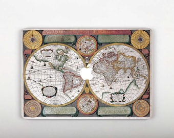 World map skin etsy world map macbook pro decal mac book 12 inch skin macbook pro 15 stickers cool mac gumiabroncs Gallery