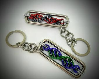 Lab Week Inspired, DNA double helix chainmail keychain
