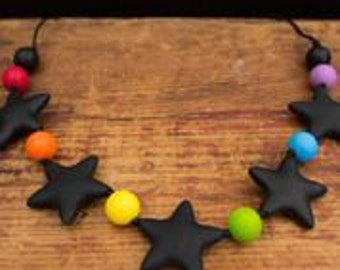 Chic 5 Star Silicone Teething Necklace