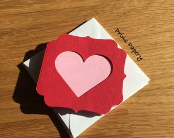Valentine Heart Mini Note Cards with Envelopes 8