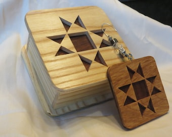 Quilting Square Mini-Box with Matching Ornament