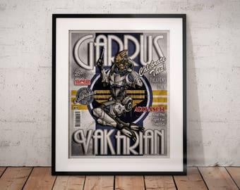 Calibrate This! - Garrus Vakarian Mass Effect Pinup Poster Print