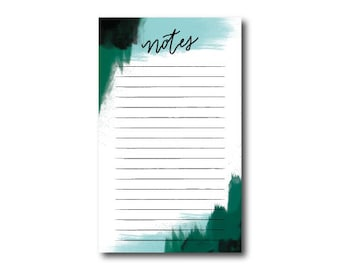 Abstract Dreams Note List Notepad // 4.25 x 7  Notepad // 50 Sheets // Shopping List, Market List