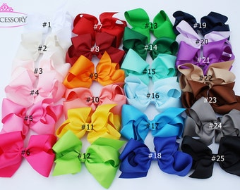 """6"""" Girls Hair Bows, hair bows for girls, baby girls hair bows, toddler gift, baby bow, hairbows, 6 inch, toddler hair bows, baby girl gift"""